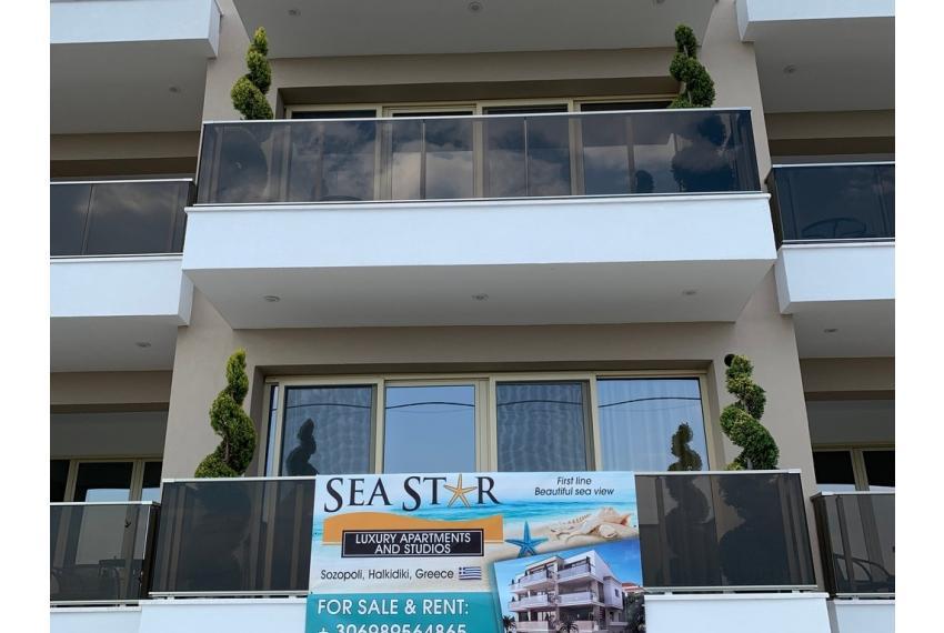 Продажба на хотел с девет апартамента, ново строителство, на първа линия на морето в Халкидики Гърция. Апартаментите са напълно обзаведени
