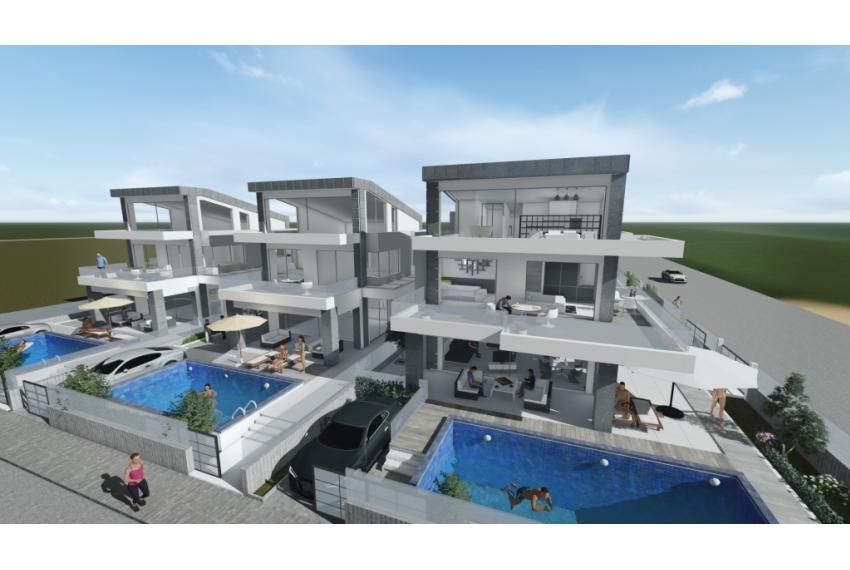 Еднофамилна къща Халкидики Гърция на първа линия до морето